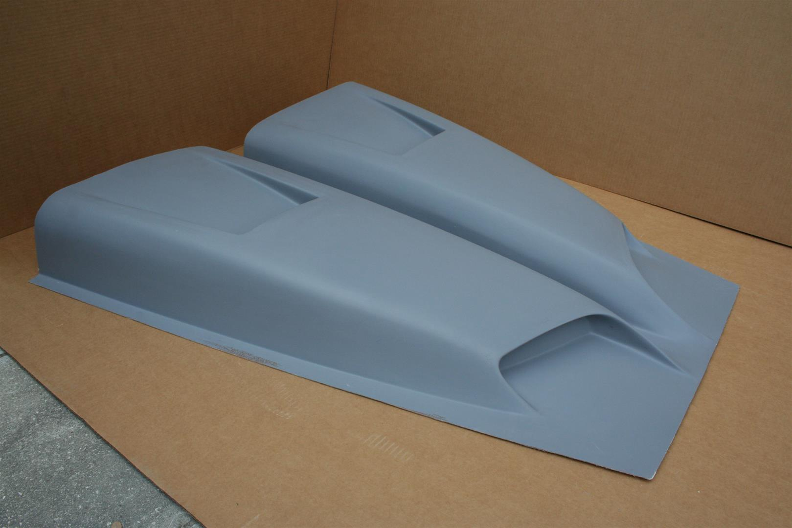 Cowl Induction Hood Scoops : Ram air cowl induction hood scoop universal dodge chevy ebay
